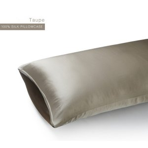 Taupe 22 Momme Invisible Envelope Silk Pillowcase
