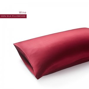 Wine 22 Momme Invisible Envelope Silk Pillowcase