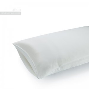 White 22 Momme Invisible Envelope Silk Pillowcase